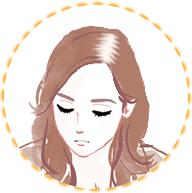 びまん性脱毛症イラスト