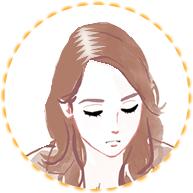 女子男性型脱毛症イラスト